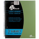 11&quot; x 8.5&quot; 3-Subject Notebook