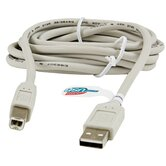 6' USB 2.0 High Speed A To B Plug Device Cable