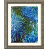 Iris Silver Framed Print - Claude Monet