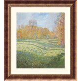 Meadow at Giverny Bronze Framed Print - Claude Monet