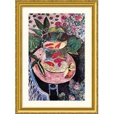 Goldfish Gold Framed Print - Henri Matisse