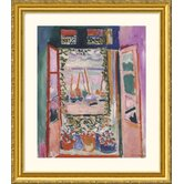 Open Window, Collioure, 1905 Gold Framed Print - Henri Matisse