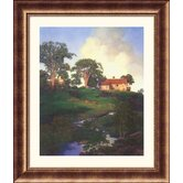 Hunt Farm Bronze Framed Print - Maxfield Parrish