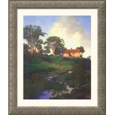 Hunt Farm Silver Framed Print - Maxfield Parrish