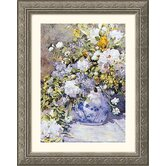 Vase de Fleur Silver Framed Print - Pierre Auguste Renoir