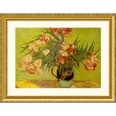 Vases de Fleurs (Vases of Flowers) Gold Framed Print - Vincent van Gogh