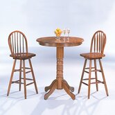 McCoy Bar Table with Arrow Back Bar Stool in Oak
