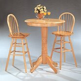 Kingsburg Bar Table Set in Natural Finish