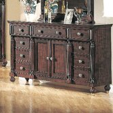 Edinburgh 9 Drawer Combo Dresser