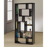 Room Divider Bookcase in Black Oak