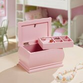 Princess Dianna Jewelry Box with Removable Tray in Pink