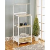 Gilbert Kitchen Cart with Wood Top