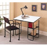 Pinehurst Desk with Lamp and Chair