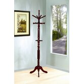 Goldendale Coat Rack in Dark Walnut