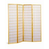 Raymond Four Panel Japanese Style Folding Screen in Natural