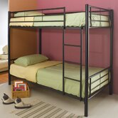 Eightmile Twin over Twin Bunk Bed with Built-In Ladder