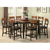 Adams 9 Piece Counter Height Dining Set