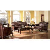 Valencia Leather Living Room Set
