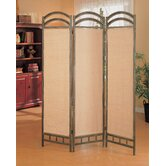 Oakville Three Panel Folding Screen in Antique Gold
