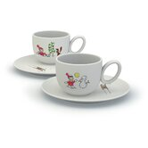 Storie A Colazione Niki Sulla Neve Cups with Saucers Set by Miriam Mirri