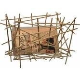 Blow-Up Bamboo Magazine Holder by Fratelli Campana