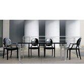 Ghost 5 Piece Top Top Table and Ghost Chair Dining Set