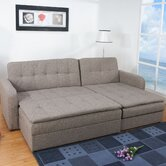 Denver Sectional Sleeper Sofa and Ottoman Set