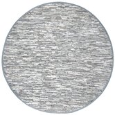Matador White Leather Chindi Rug