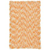 Shagadelic Orange Twist Swirl Rug