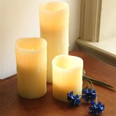 LED Pillar Candle (Set of 3)