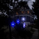 Outdoor Transitioning LED Snowflake Light (Set of 2)