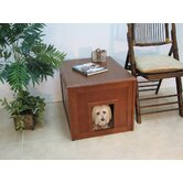 Doggie Den Cabinet and Indoor Doghouse made with Eco-Friendly Rubberwood