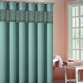 Rania Shower Curtain in Aqua Blue