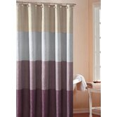 Hampton Hotel Color Block Shower Curtain in Lavender