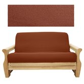 Elegant Ribbed Brick Futon Cover
