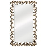Traditional Beveled Mirror in Distressed Antique Silver