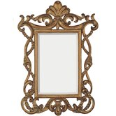 Traditional Beveled Mirror in Distressed Antique Gold