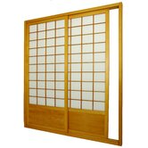 Single Sided Sliding Door  Shoji Room Divider in Honey