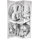 6' Tall Double Sided Alice in Wonderland Canvas Room Divider