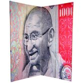 6Feet Tall Double Sided Gandhi Room Divider