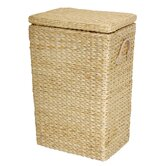 Rush Grass Laundry Basket in Natural