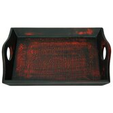 Calligraphy Tray Black and Red Matte Lacquer