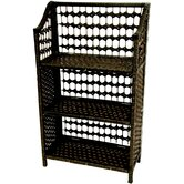 33&quot; Natural Fiber Shelving Unit in Black
