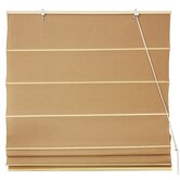 Cotton Roman Shades Blinds in Light Brown