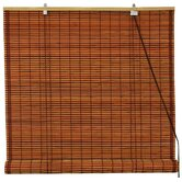 Burnt Bamboo Roll Up Blinds in Brown