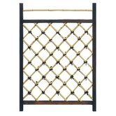 Japanese Garden Style Wood and Bamboo Fence Door