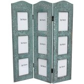 Distressed Photo Screen Room Divider