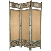 Distressed Wooden Railings Room Divider