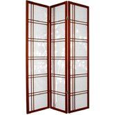72&quot; Double Crossed Bamboo Tree Room Divider in Rosewood