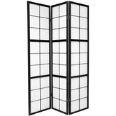 Mado Traditional Asian Room Divider in Black